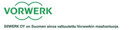 SIIWERK OY on Suomen ainoa valtuutettu Vorwerkin maahantuoja.
